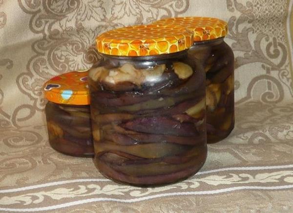баклажаны в масле на зиму