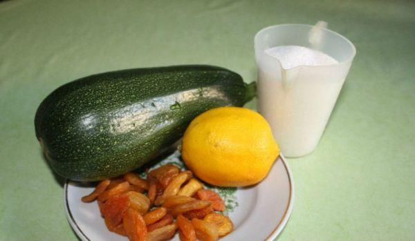 курага, лимон и кабачки