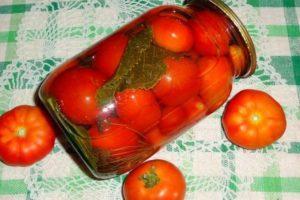 ТОП 4 рецепта приготовления на зиму маринованных помидоров с вишневым листом