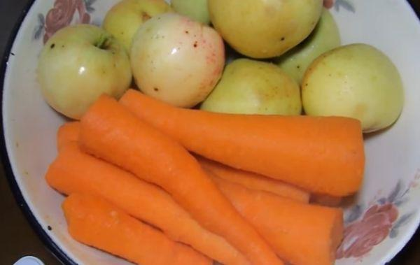 морковь с яблоками