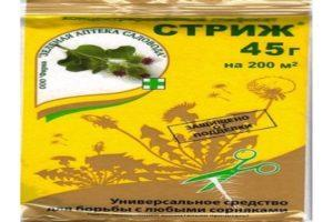 Инструкция по применению гербицида от сорняков Стриж, дозировка и аналоги